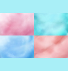 Cotton candy backgrounds realistic candyfloss vector