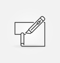 Cutter or stationery knife cuts paper line vector