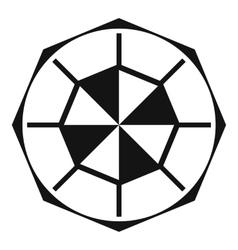 Diamond gemstone icon simple style vector