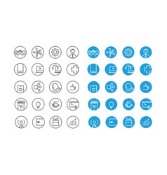 Different circle icons set vector