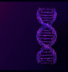dna abstract blue vector image