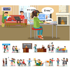 education and learning concept vector image