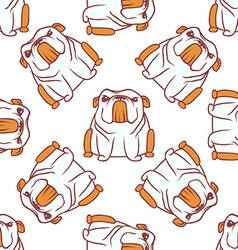 English bulldog pattern seamless vector