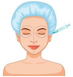 Facial botox filler skin injection vector