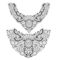 Fashion neck print vector