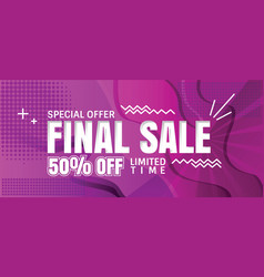 final sale banner vector image