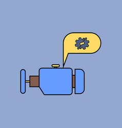 Flat icon design collection engine and broken gear vector