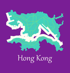 Flat icon in form of hongkong vector