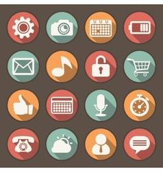 Flat icons set for Web and Mobile Applications vector image