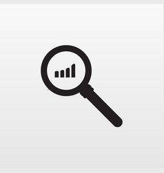 gray research icon isolated on background modern vector image