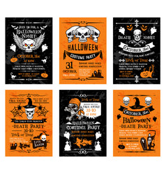 halloween posters for holiday horror party vector image