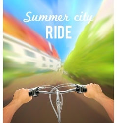 Handlebar Colored Poster vector