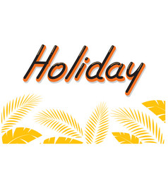 holiday typography comics style vector image