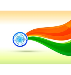 indian flag design made in wave style vector image