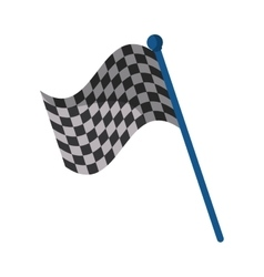 Isolated flag of formula racing concept vector