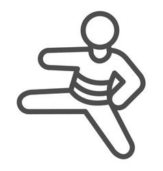 judo sportsman line icon self defense concept vector image