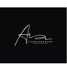Letter ar signature logo template vector