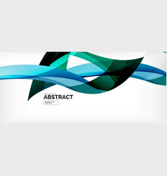 linear wave web template vector image