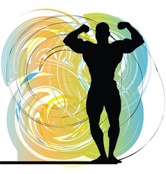 Male body builder vector image