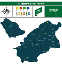 map of al qassim saudi arabia vector image