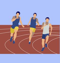 marathon sports jogging sports competitions men vector image