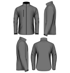 Men softshell jacket design template vector image