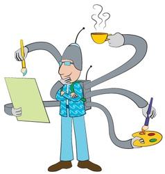Modern artist cartoon vector