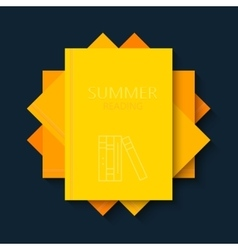 modern concept sun and books summer vector image