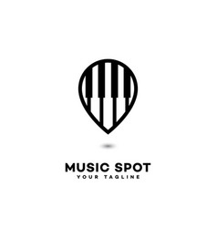 Music spot logo vector