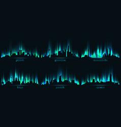 neon city skyline beijing shanghai guangzhou vector image