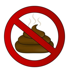 no poop sign vector image