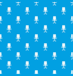 office chair pattern seamless blue vector image