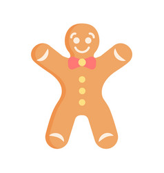 pink gingerbread man flat abstract element vector image