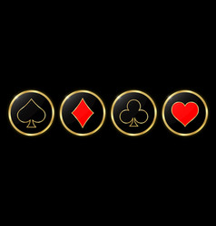 Playing card decorated with brilliants and texture vector