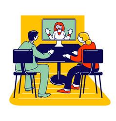 Psychotherapy helpline online consultation vector