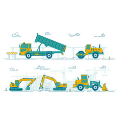 road construction vector image
