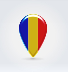 Romanian icon point for map vector