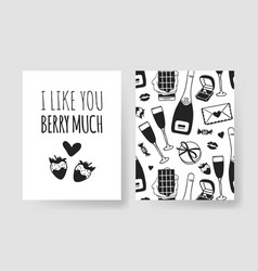 set of hand drawn templates fashion cards with vector image