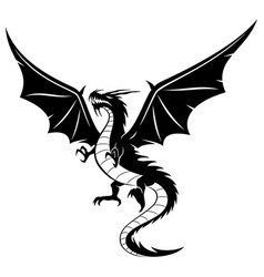 Sign of a black dragon vector