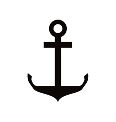 single anchor icon vector image