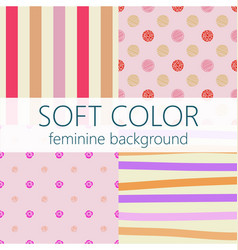soft color feminine abstract background pattern vector image
