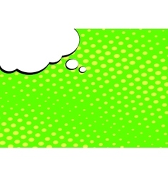 Speech Bubble on Pop Art Style Background vector image