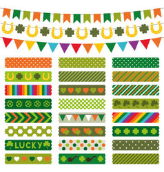 St Patricks Day decoration and tapes vector image vector image