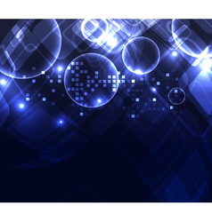 stylized glowing background with digital symbols vector image