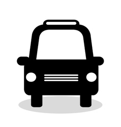 taxi service vehicle isolated icon vector image