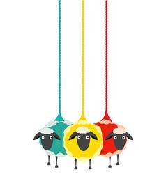 Three Yarn Sheep vector