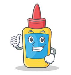 Thumbs up glue bottle character cartoon vector