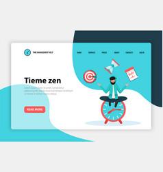 Time management web concept banner vector