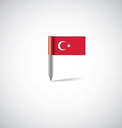 turkey flag pin vector image