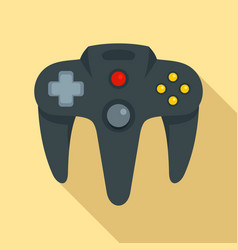 video game joystick icon flat style vector image